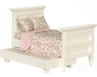 1:12 Scale Miniature Trundle Bed
