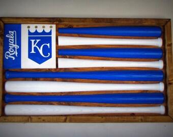 Kansas City Royals Baseball Bat Flag
