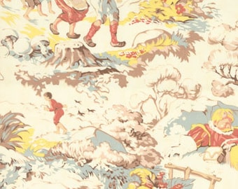 SALE 30% OFF Fairytale Toile Tall Tales from Moda Home in Off White