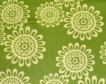 CLOSEOUT 50% OFF Fleurs Du Soleil in Lime from Pillow and Maxfield and Michael Miller Fabrics