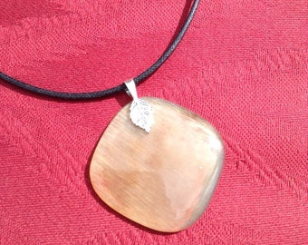 Ram Horn and Sterling Silver Pendant