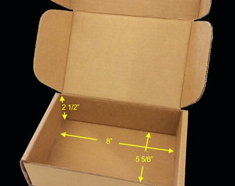 """Case of 25 Tuck Top SaverBoxes - Box perfectly fits USPS Flat Rate Envelope - Lowers shipping cost by 50% or more - 8"""" x 5 5/8"""" x 2 1/2"""""""