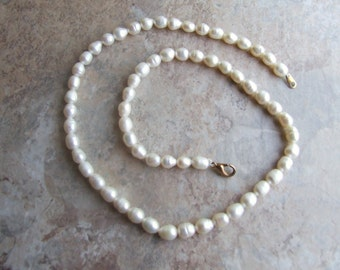 Free shipping vintage freshwater pearl necklace, freshwater pearl necklace, pearl necklace, pearls, necklace