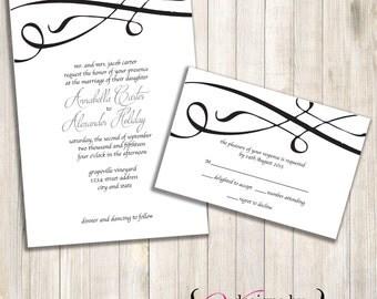 Simple Script Wedding Invite Set - Digital File