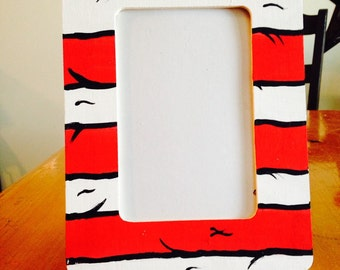 Hand painted Dr. Seuss inspired wooden picture frames