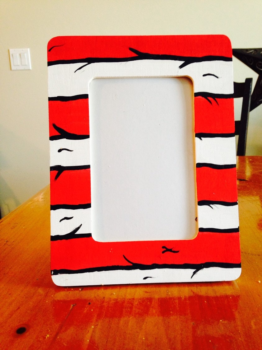 Hand Painted Dr Seuss Inspired Wooden Picture Frames