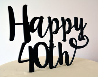 Happy 21st / 30th / 40th / 50th / 60th - Choose the age! - Birthday Cake Topper