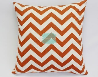 Pillow Cover - Premier Prints - ZIG ZAG - Rust Natural - Home Decor Sofa Throw Pillow-Cover with Zipper Enclosure - All Sizes