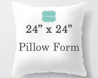 Pillow Insert - 24 x 24 inch Pillow Form - Decorative Pillow Cover Filler - Fiberfill Stuffing - Square Pillow Cover Insert Throw Pillows