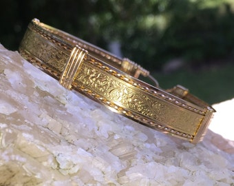 Red Brass and Gold Bracelet