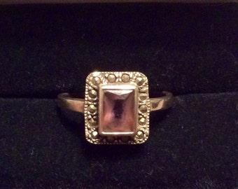 Sterling silver antique style ring size O