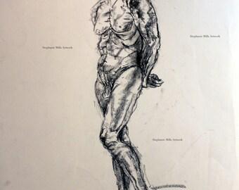 charcoal figure drawing No. 6
