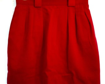 Candy Apple Red vintage skirt