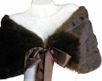 Brown faux Fur Stole / Shawl