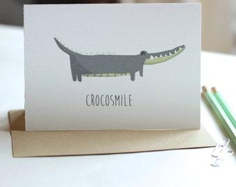 Crocosmile - Greeting Card