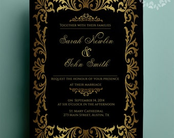 Bridal shower invitation. great gatsby African American