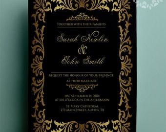 Gatsby wedding invitation – Etsy
