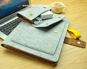 Felt laptop case,MacBook Air 11 inch sleeve,11 inch MacBook Air case,11 inch MacBook Air cover,laptop sleeve 11 inch-TFL114