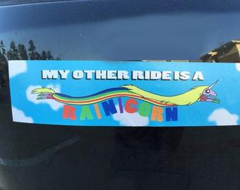 Adventure Time Bumper Sticker Lady Rainicorn