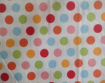 Just dreamy by riley blake .100% cotton.  114cm wide