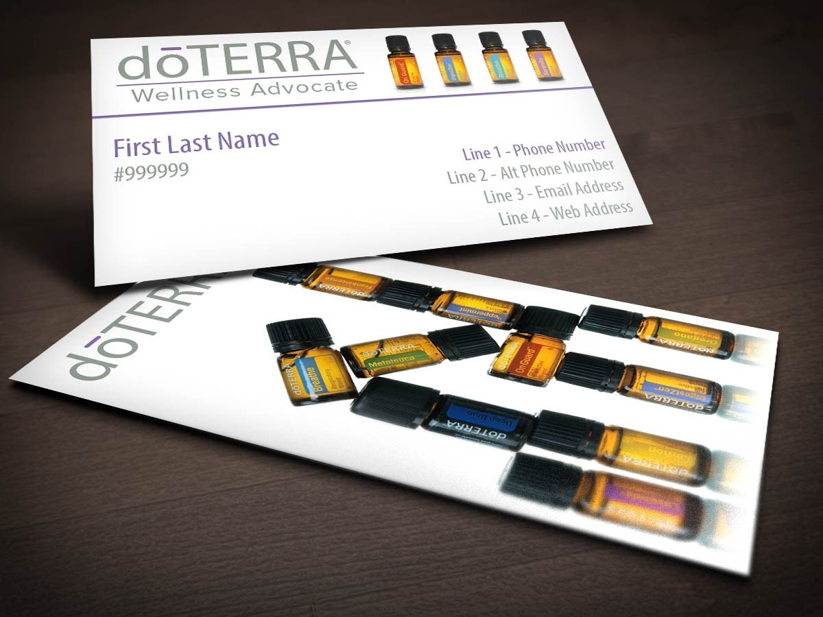 An Oil Bottle doTERRA Business Card by UplinePrinting on Etsy