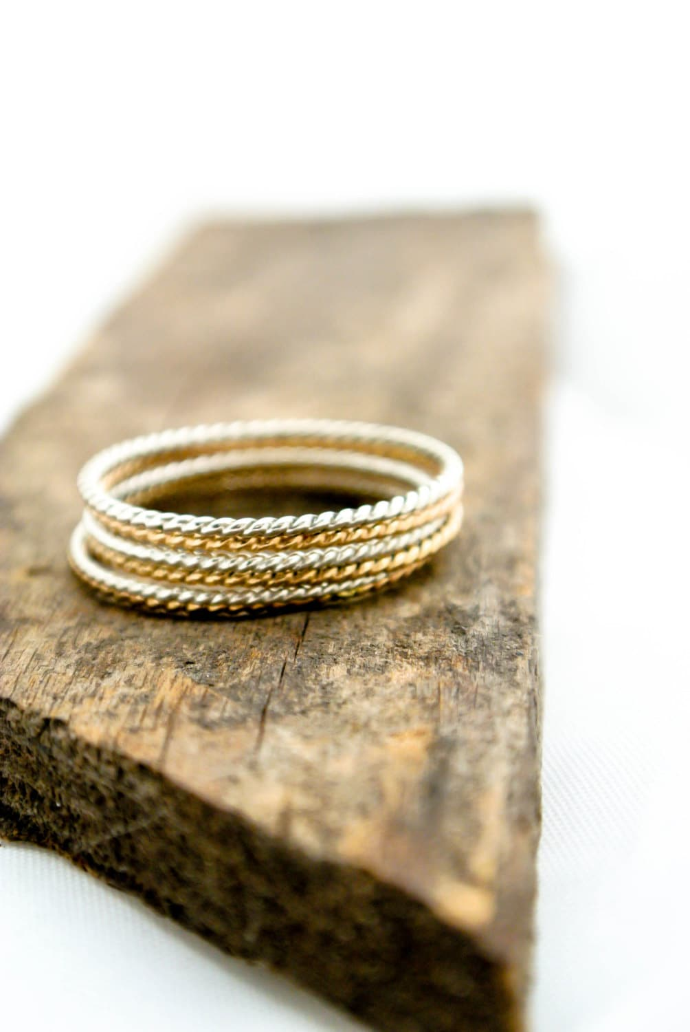 Thin Stacking Rings Set Skinny Twist Rope Stacking Rings Mixed