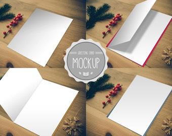 greeting card mockup instant download photoshop psd. Black Bedroom Furniture Sets. Home Design Ideas