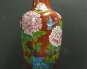 Vintage Chinese Ming Dynasty Style Cloisonne Vase