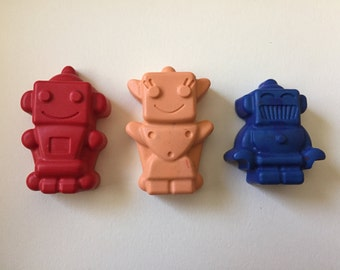 Robot Crayons Party Favors Set of 10 Recycled Crayons Mr. Roboto
