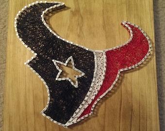 Texan's Nail and String Art