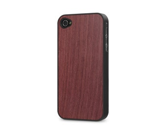 iPhone 4 / 4s #WoodBack Real Wood Case - Purpleheart (FREE and Fast Delivery)