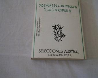 Vintage 1978 - Rafael alberti   Poemas del destierro y de la espera, Paperback Poetry Spanish Language
