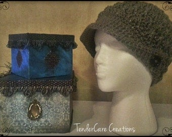 Crochet Women/Teen/Child Peak Hat with Brim