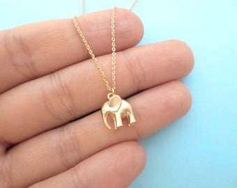 Puffy, Dumbo, Elephant, Gold, Silver, Necklace, Cute, Elephant, Jewelry, Animal, Modern, Gift. Jewelry, Lovely, Gift, Necklace, For, Her