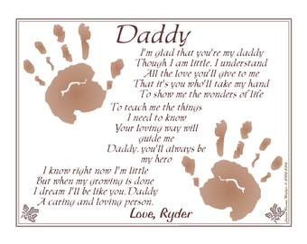 ... © Poem Baby / Child Handprint ~ New FATHER'S Gift, Christmas Gift
