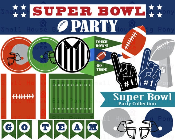 super bowl clip art clipart party collection instant. Black Bedroom Furniture Sets. Home Design Ideas