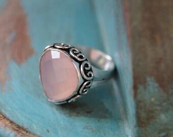 Boho Ring US size 7 1/4, Bohemian Ring, Rose Ring,Yoga Ring, Reiki Ring, Rose Jewelry