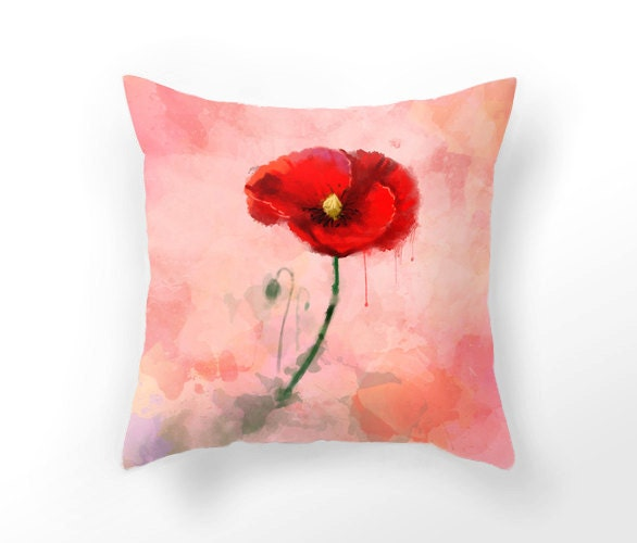 Red Poppy Decorative Pillow : Chandeliers & Pendant Lights