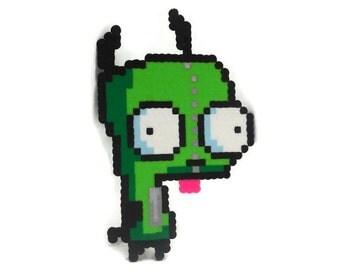 Invader Zim Inspired GIR in Dog Suit Pixel Art