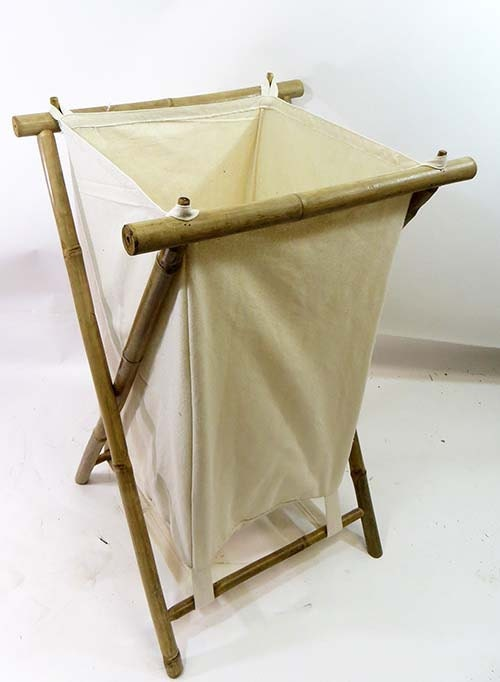 Foldable bamboo laundry hamper x 20d x - Bamboo clothes hamper ...