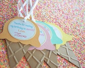Ice Cream Tag - Sweet Shoppe Tags - Set of 10 Tags - Hootsie