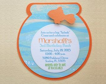 Fish Bowl Invite - Fish Invite - Hootsie