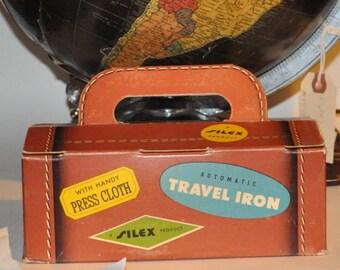 Genuine Vintage 1950s-'60s Silex Travel Iron with original box -- Free Shipping