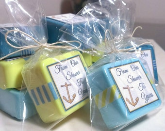 24 Nautical Baby Shower Favor Soaps   Anchor Baby Shower Decorations   Boy Baby  Shower Soap