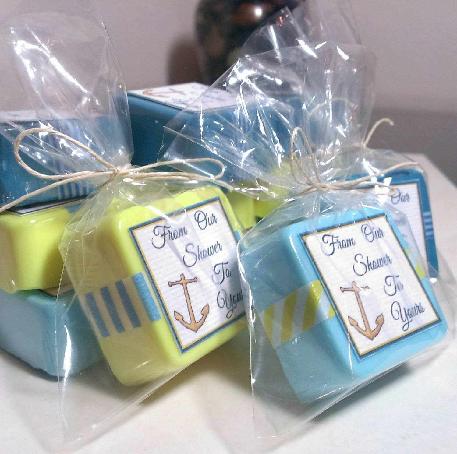 24 nautical baby shower favor soaps Anchor Baby Shower