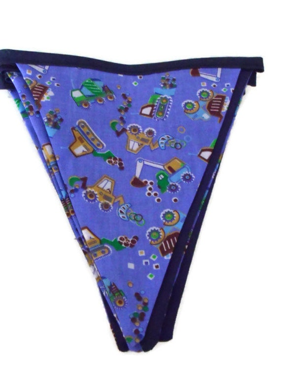blue tractor bunting, farm vehicles themed flags, hanging decoration, tractor pennant flags 7ft