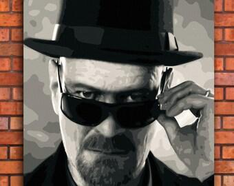 Heisenberg Walter White Breaking Bad Canvas Art Print A1 A2 A3 A4