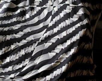 Italian silk fabric by Dante made in Como Italy 2.9 yards