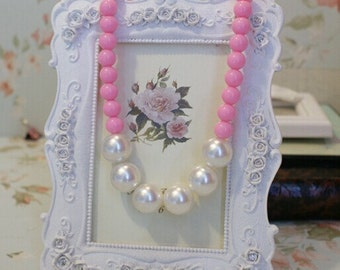 Little girl's Accessories Pearl beads neclace Baby jewelry gift  5different color for your options