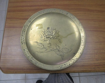 Heavy Brass Platter With Nice Design